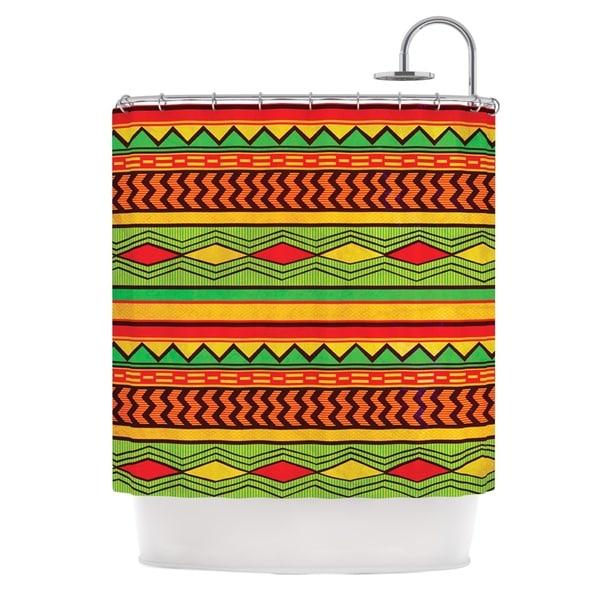 KESS InHouse Louise Machado Egyptian Red Orange Shower Curtain (69x70)