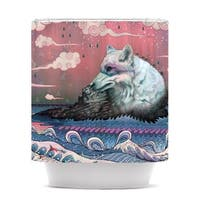 KESS InHouse Mat Miller Lone Wolf Shower Curtain (69x70)