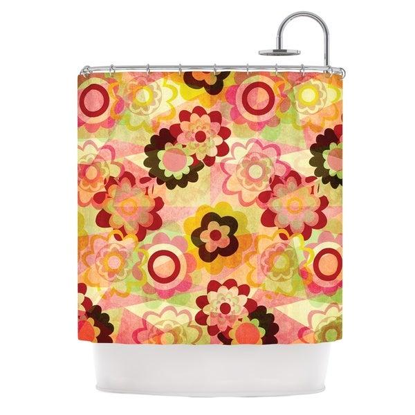 KESS InHouse Louise Machado Colorful Mix Red Orange Shower Curtain (69x70)