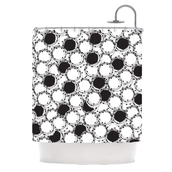 KESS InHouse Nandita Singh Beaded Bangles Black White Shower Curtain (69x70)