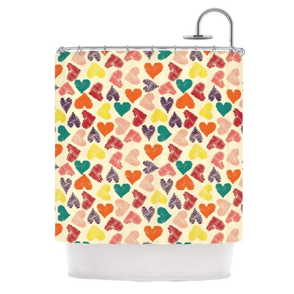 KESS InHouse Louise Machado Little Hearts Shower Curtain (69x70)