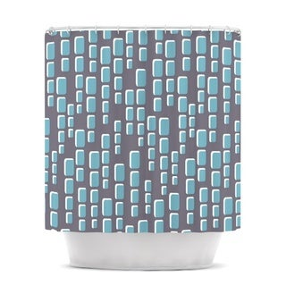 KESS InHouse Michelle Drew Cubic Geek Chic Shower Curtain (69x70)