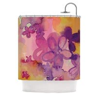 KESS InHouse Louise Machado Dissolved Flowers Shower Curtain (69x70)