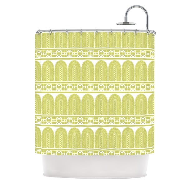 KESS InHouse Nandita Singh Tribal Green Pattern Shower Curtain (69x70)