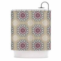 KESS InHouse Nika Martinez Princess Pink Abstract Shower Curtain (69x70)