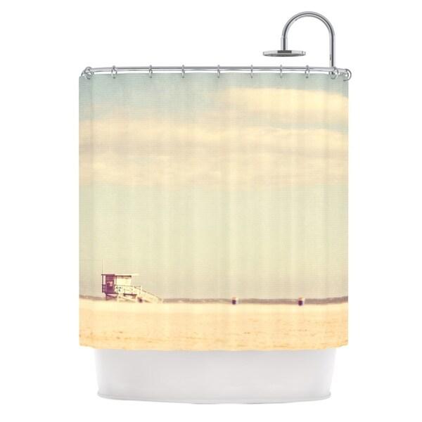 KESS InHouse Myan Soffia Toffee - Marshmallow Sandy Beach Shower Curtain (69x70)