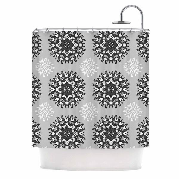 KESS InHouse Nika Martinez Princess BW Gray Vector Shower Curtain (69x70)