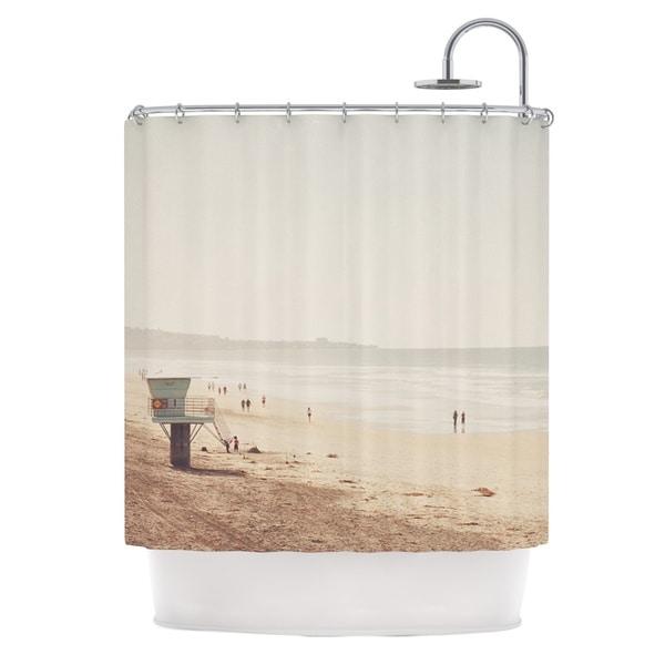 KESS InHouse Myan Soffia Beach Day Beach Ocean Shower Curtain (69x70)