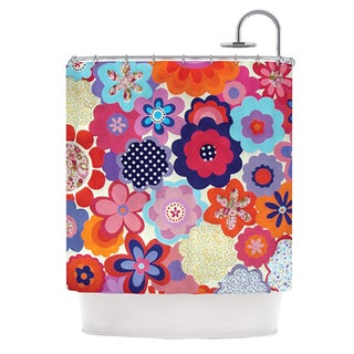 KESS InHouse Louise Machado Patchwork Flowers Shower Curtain (69x70)