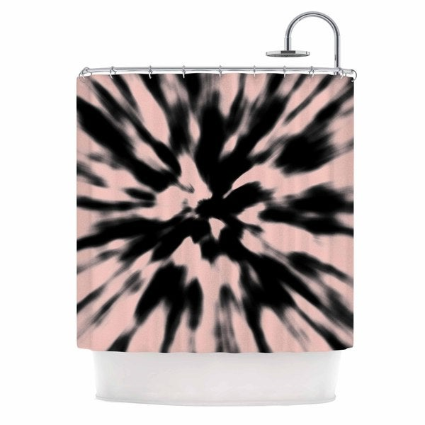 KESS InHouse Nika Martinez Tie Dye Rose Pink Abstract Shower Curtain (69x70) - 69 x 70