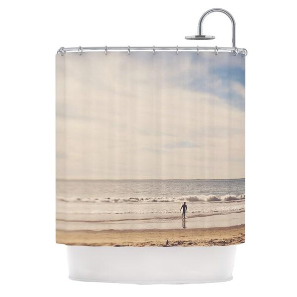 KESS InHouse Myan Soffia Ritual Beach Sand Shower Curtain (69x70)
