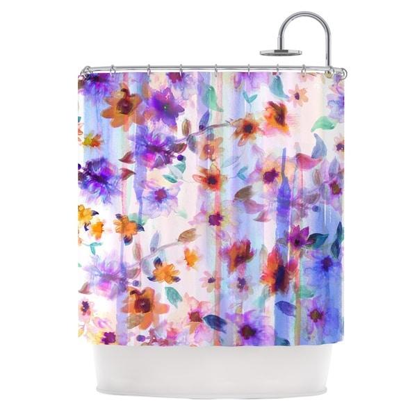KESS InHouse Nikki Strange Floral Ombre Pastel Shower Curtain (69x70)