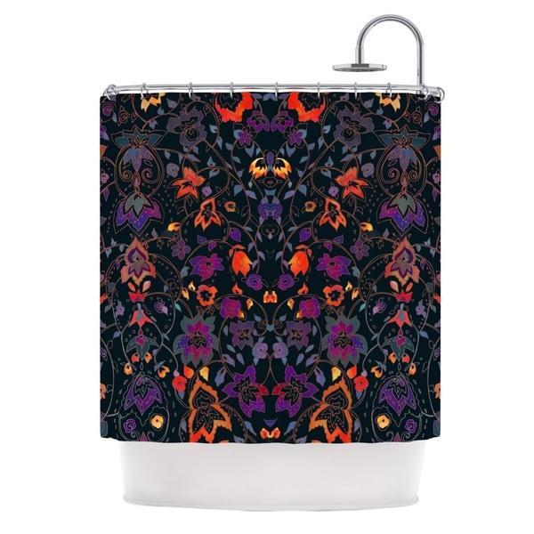 KESS InHouse Nikki Strange Bali Tapestry Dark Shower Curtain (69x70)