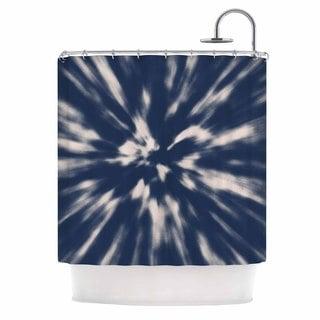 KESS InHouse Nika Martinez Indigo Tie Dye Blue Urban Shower Curtain (69x70)