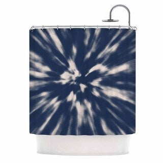 KESS InHouse Nika Martinez Indigo Tie Dye Blue Urban Shower Curtain (69x70)