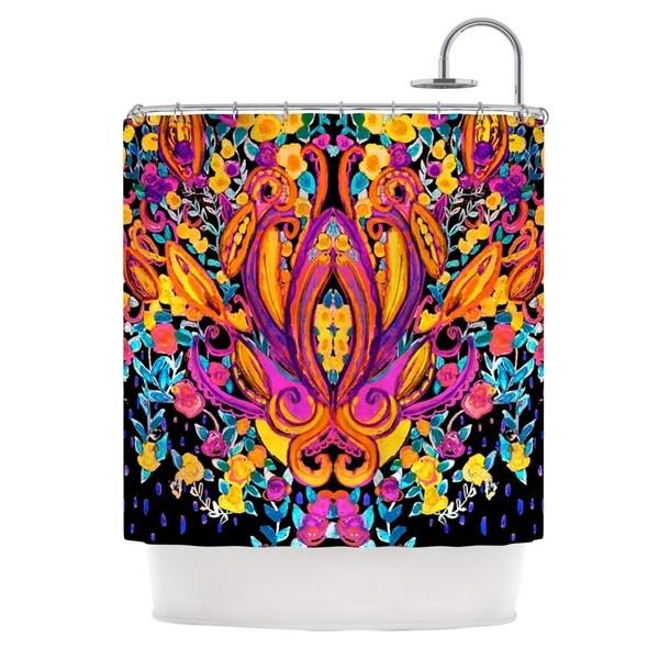 KESS InHouse Nikki Strange Paisley Garden Wam Pink Shower Curtain (69x70) - 69 x 70
