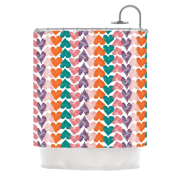 KESS InHouse Louise Machado Hearts Shower Curtain (69x70)