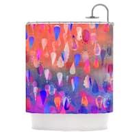 KESS InHouse Nikki Strange Bindi Dreaming Blue Pink Shower Curtain (69x70)
