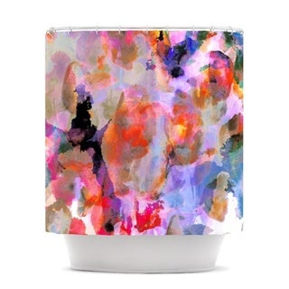 KESS InHouse Nikki Strange Painterly Blush Shower Curtain (69x70)
