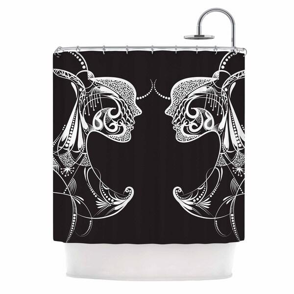 KESS InHouse Maria Bazarova Two Women Black White Shower Curtain (69x70)
