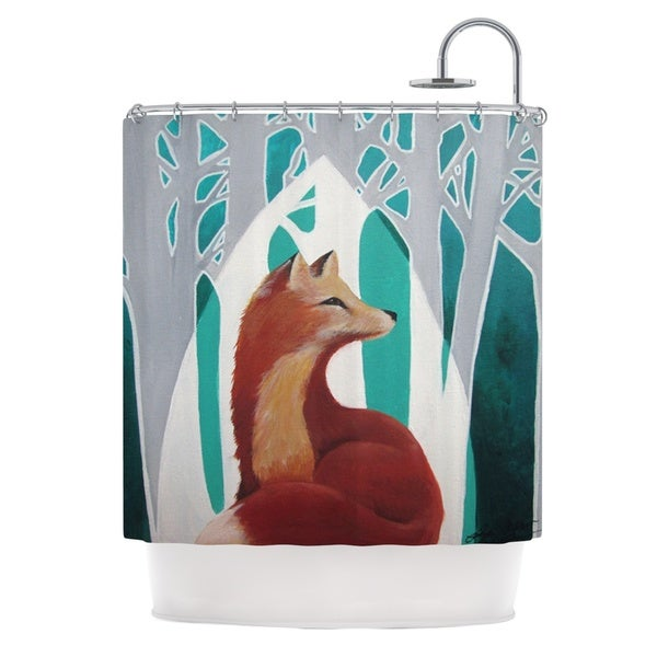 KESS InHouse Lydia Martin Fox Forest Shower Curtain (69x70)