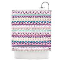 KESS InHouse Nika Martinez Boho Ibiza Pastel Pink Shower Curtain (69x70)