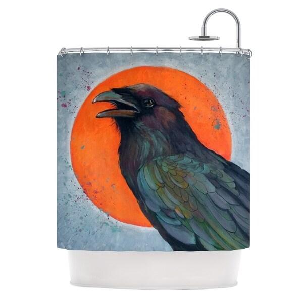 KESS InHouse Lydia Martin Raven Sun Shower Curtain (69x70)