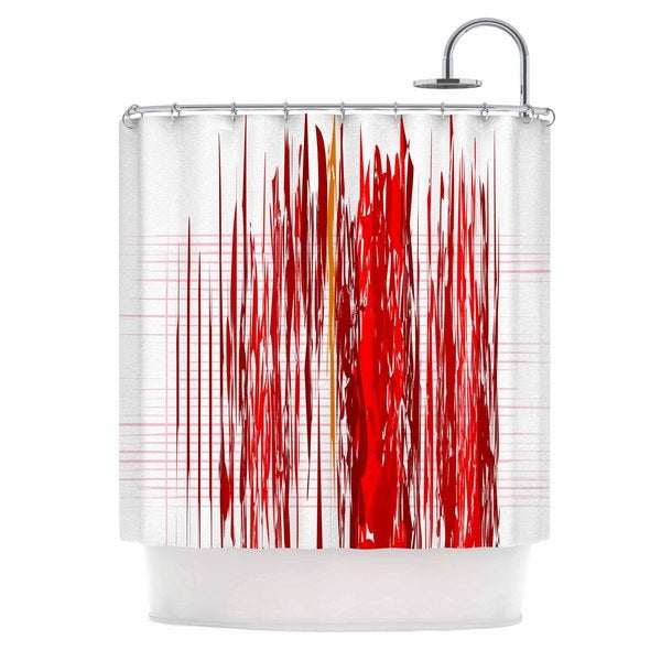 ... Red White Shower Curtain Mobroi ...