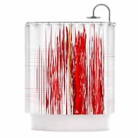 KESS InHouse Maria Bazarova Red Abstraction Red White Shower Curtain (69x70)