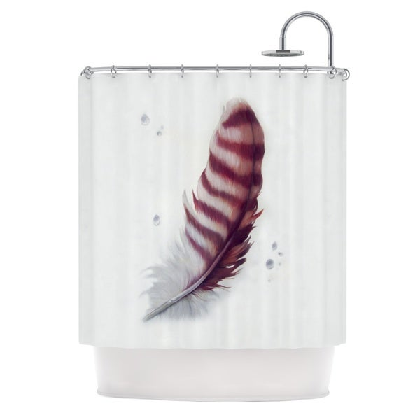KESS InHouse Lydia Martin The Feather Shower Curtain (69x70)