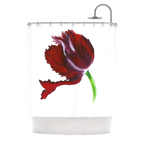 KESS InHouse Lydia Martin Dark Purple Tulip Shower Curtain (69x70)