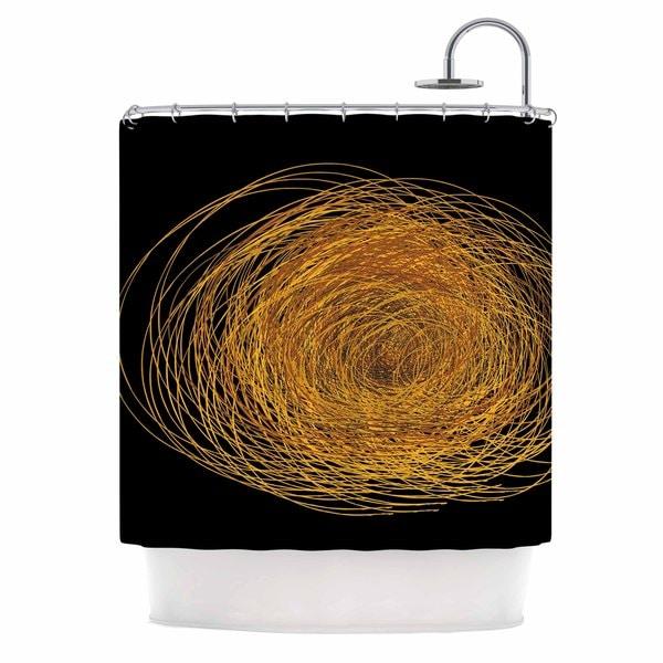 KESS InHouse Maria Bazarova Hay Gold Black Shower Curtain (69x70)