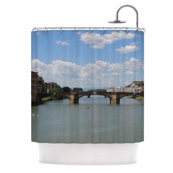 KESS InHouse Nick Nareshni Italian Archways Nature Travel Shower Curtain (69x70)