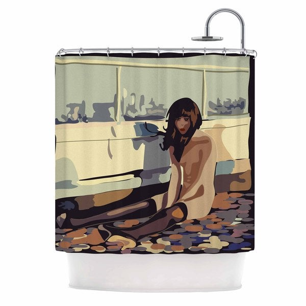 KESS InHouse Maria Bazarova Loneliness Beige People Shower Curtain (69x70)