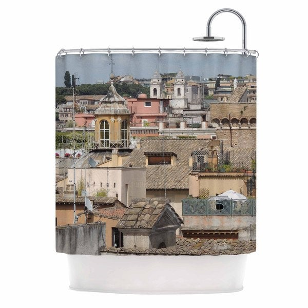 KESS InHouse Nick Nareshni Florence Italy Hillside Blue Photography Shower Curtain (69x70)