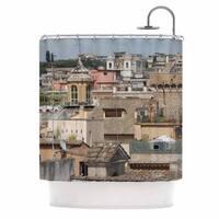 KESS InHouse Nick Nareshni Florence Italy Hillside Blue Photography Shower Curtain (69x70)
