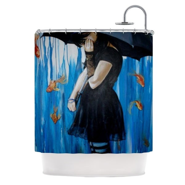 KESS InHouse Lydia Martin Sink or Swim Shower Curtain (69x70)