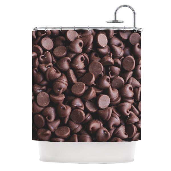 KESS InHouse Libertad Leal Yay! Chocolate Candy Shower Curtain (69x70)