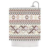 KESS InHouse Nika Martinez Tribal Native in Pastel Brown Brown Shower Curtain (69x70)