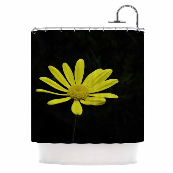 KESS InHouse Nick Nareshni Yellow Pedal Daisy Floral Photography Shower Curtain (69x70)