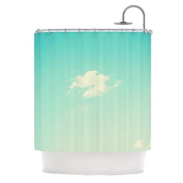 KESS InHouse Libertad Leal Cloud 9 Blue Sky Shower Curtain (69x70)