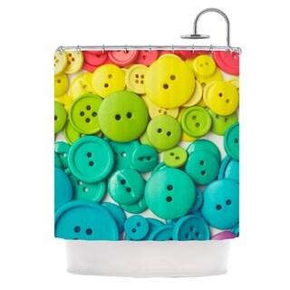 KESS InHouse Libertad Leal Cute as a Button Shower Curtain (69x70)