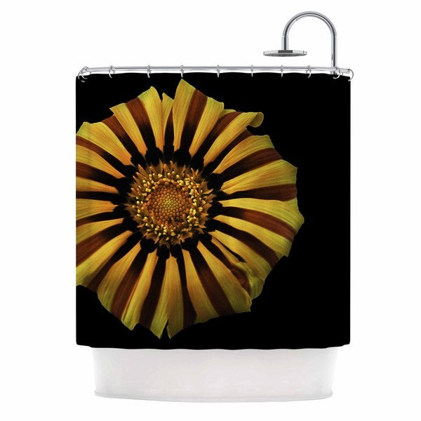 KESS InHouse Nick Nareshni Red And Yellow Flower Floral Photography Shower Curtain (69x70)