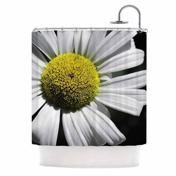 KESS InHouse Nick Nareshni Open Daisy White Blue Shower Curtain (69x70)