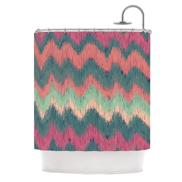 KESS InHouse Nika Martinez Ikat Chevron Multicolor Shower Curtain (69x70)