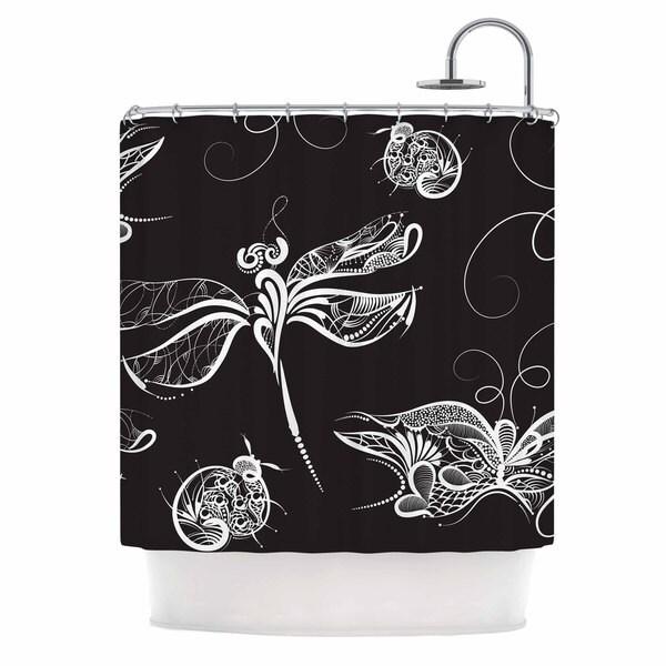 KESS InHouse Maria Bazarova Insects Black Animals Shower Curtain (69x70)
