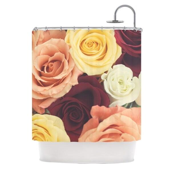 KESS InHouse Libertad Leal Vintage Roses Shower Curtain (69x70)
