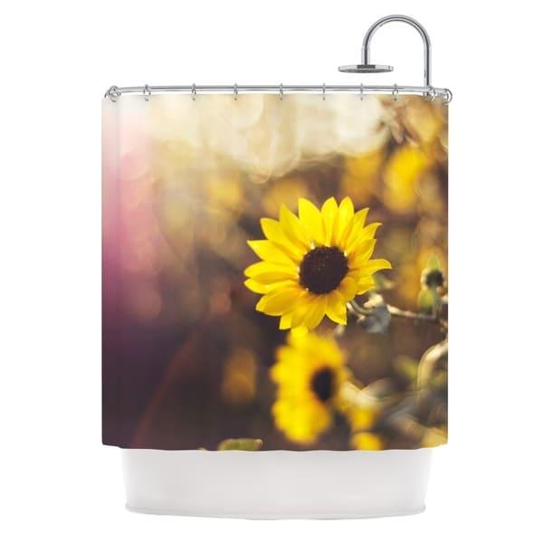 KESS InHouse Libertad Leal Magic Light Flower Shower Curtain (69x70)