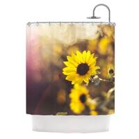 KESS InHouse Libertad Leal Magic Light Flower Shower Curtain (69x70)