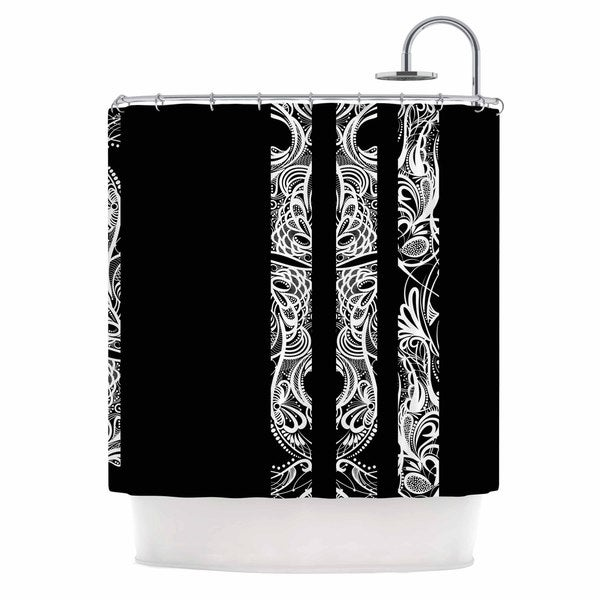KESS InHouse Maria Bazarova Lines Vector Art Deco Shower Curtain (69x70)